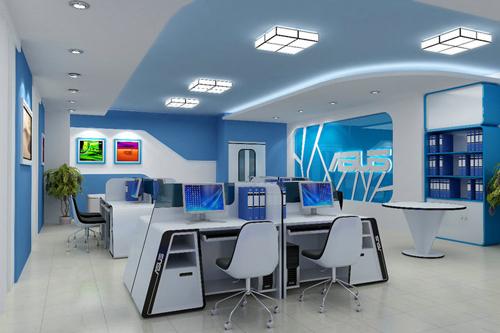 Thiết kế nội thất văn phòng theo kiểu hỗ trợ, tương tác với nhau trong công việc