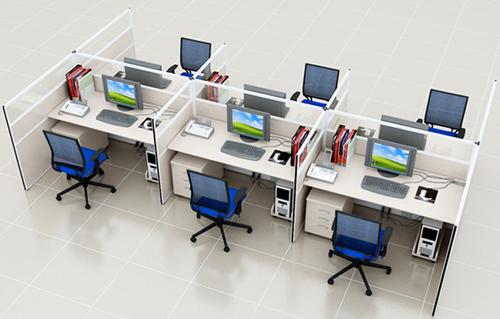 Văn phòng được thiết kế theo kiểu không gian riêng tư